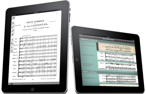 Screenshots of MusicPodium on the iPad